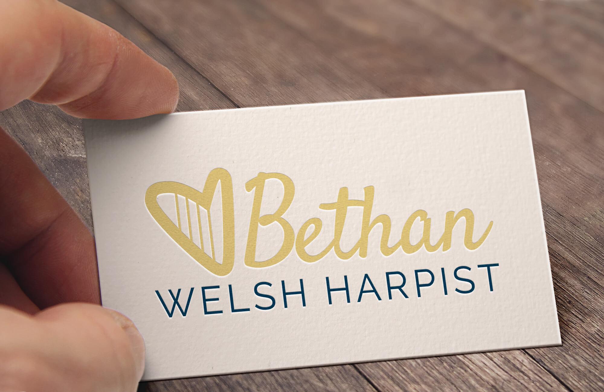Bethan Welsh Harpist - Branding