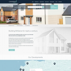 Cavanna Homes website 2019 design